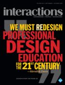 Interactions - We must redesign professional design education for the 21st century