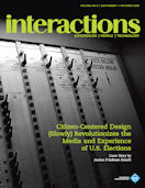 Interactions - Citizen-Centered Design (Slowly) Revolutionizes the Media and Experience of U.S. Elections